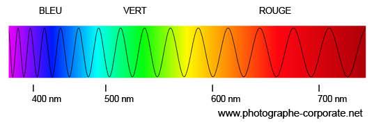 Illustration du spectre de la lumière visible - @copyright